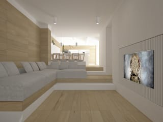 Modern living room by DomECO Modern