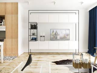 Dom I | Lębork: styl , w kategorii Salon zaprojektowany przez Kul design