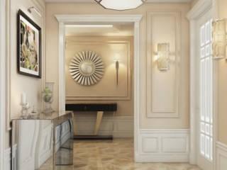 隨意取材風玄關、階梯與走廊 根據 Архитектурная мастерская Бориса Коломейченко 隨意取材風