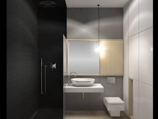 łazienka z czarnym akcentem od WMA Design
