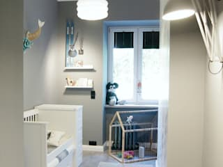 Child Room Stanza dei bambini in stile scandinavo di Pink Pug Design Interior Scandinavo