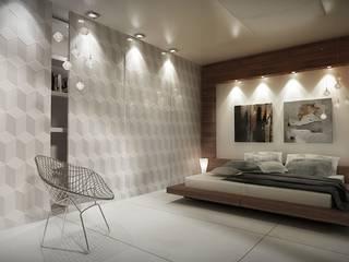 Wnętrza prywatne: styl , w kategorii Sypialnia zaprojektowany przez DGM Architekci