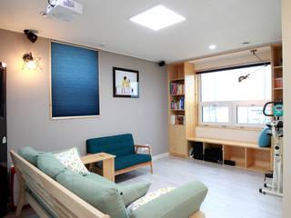 주택설계전문 디자인그룹 홈스타일토토 Salas multimedia de estilo moderno
