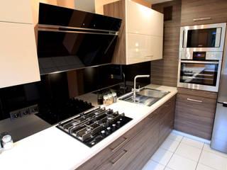 Brąz, czerń i krem: styl , w kategorii Kuchnia zaprojektowany przez Art House Studio