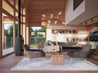 LK&1300 - wnętrza do projektu: styl , w kategorii  zaprojektowany przez LK & Projekt Sp. z o.o.,