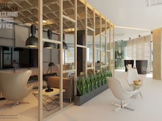 Edificios de oficinas de estilo industrial de SIBEL SARIKAYA INTERIOR DESIGN OFFICE Industrial