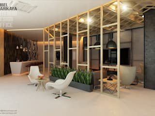 Edificios de oficinas de estilo  por SIBEL SARIKAYA INTERIOR DESIGN OFFICE, Industrial