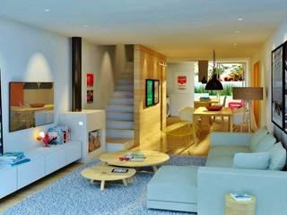 CASAS VERDES CAMPOS hola Salas de estar modernas