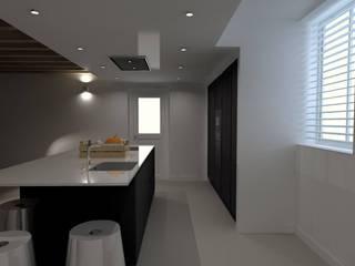 Cuisine ouverte moderne et fonctionnelle:  de style  par NLD Intérieur & Design