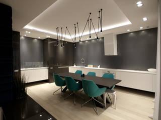 apartament Chodkiewicza: styl , w kategorii Jadalnia zaprojektowany przez ON/OFF Architekci