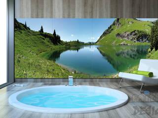 2. GLASBILILDER IN WELLNESSS, POOL & SPA Moderne Pools von Mitko Glas Design Modern