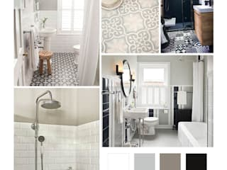 Rénovation d'une salle de bains AUDELIA HOME DESIGN Salle de bain classique Blanc