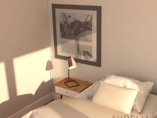 Zoom déco: Chambre de style  par AUDELIA HOME DESIGN