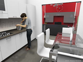 Kitchen by ArchitetturaTerapia®, Modern