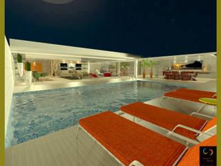 Casa integrada por Rangel & Bonicelli Design de Interiores Bioenergético