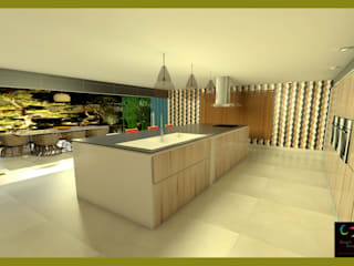 Cozinha e varanda de Rangel & Bonicelli Design de Interiores Bioenergético