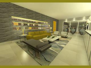 RECEPÇÃO SALÃO BELEZA de Rangel & Bonicelli Design de Interiores Bioenergético
