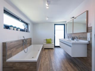 Modern bathroom by KitzlingerHaus GmbH & Co. KG Modern Engineered Wood Transparent