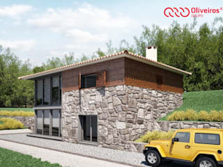 Casas de estilo rústico de Oliveiros Grupo Rústico
