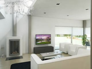 1407-PC-1214 Salas de estar modernas por Oliveiros Grupo Moderno