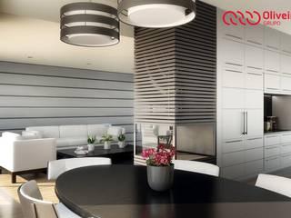 1328-VF-0813 Salas de jantar modernas por Oliveiros Grupo Moderno