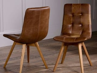 Leather Dining Chairs: rustic  by Modish Living, Rustic