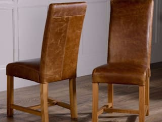 Leather Dining Chairs de Modish Living Rústico