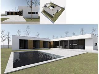 Casas de estilo  de Modiko Estruturas de Construção, Lda, Moderno