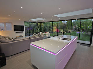 Glass Doors with UltraSlim Frames for Contemporary Living Space:   by SunSeeker Doors