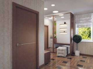 Minimalist corridor, hallway & stairs by Студия дизайна интерьера 'Золотое сечение' Minimalist