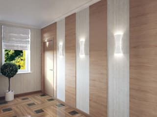 Minimalist Koridor, Hol & Merdivenler Студия дизайна интерьера 'Золотое сечение' Minimalist
