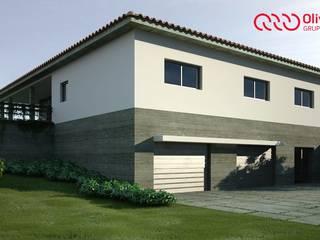 1278-JG-0912 Casas modernas por Oliveiros Grupo Moderno