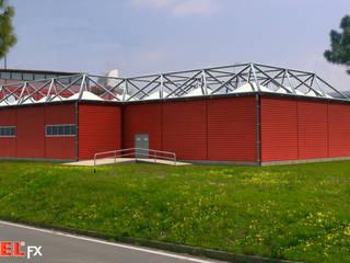 Terminal Temporário Aeroporto de Lamezia - Itália por PIXELfx