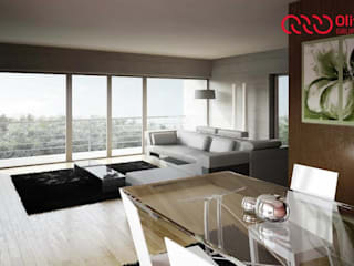 1151-JA-0710 Salas de estar modernas por Oliveiros Grupo Moderno