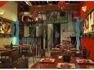 Diseño de Interior Restobar: Comedores de estilo moderno por Okarq