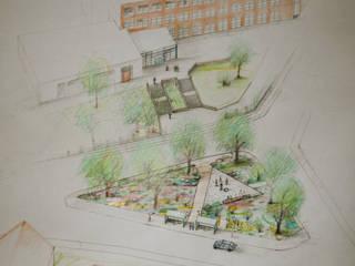 Isometrie des Ursprungsentwurfs:  Garten von Gartenarchitekturbüro Timm