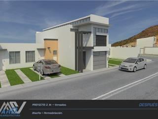 Z. M. - Hacienda Los Venados: Casas de estilo moderno por MA5-Arquitectura