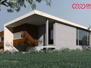 1100-JF-0909 Casas modernas por Oliveiros Grupo Moderno