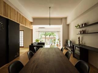 6th studio / 一級建築士事務所 スタジオロク Comedores de estilo moderno Madera