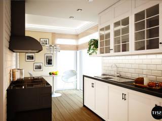 Francuski szyk w domu w Brwinowie - Tissu. Klasyczna kuchnia od TISSU Architecture Klasyczny