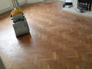 Parquet Blocks With Outworn Surface And Scratches:   by Floor Sanding Co