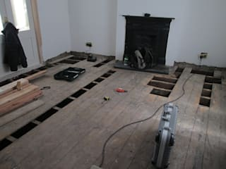 Some of the planks needed replacement:   by Floor Sanding Co