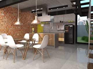 Industrial style kitchen by Teia Archdecor Industrial