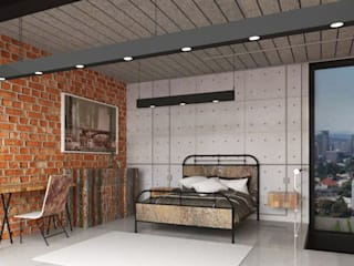 Industrial style bedroom by Teia Archdecor Industrial
