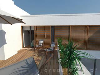 Projeto HS Varandas, marquises e terraços modernos por Areabranca Moderno