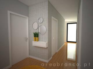 Projeto HS Corredores, halls e escadas modernos por Areabranca Moderno