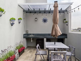 Choapan Decor by Erika Winters®Design Rustic style balcony, veranda & terrace by Erika Winters® Design Rustic
