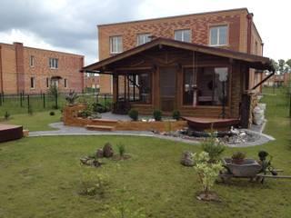 Scandinavian style balcony, porch & terrace by СВ Scandinavian Wood Wood effect