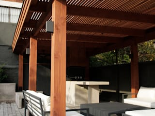 ESTUDIO BASE ARQUITECTOS Terrace Concrete Grey