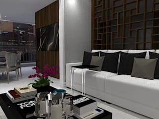T l R House: Salas de estar  por Thaissa Maziero - Interior Studio